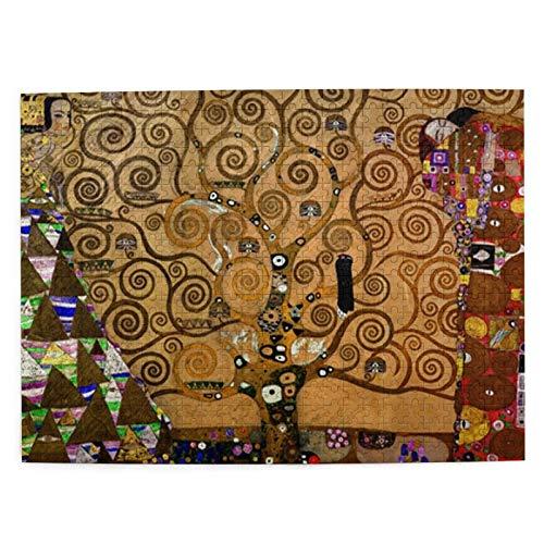 Klimt   Rompecabezas de madera con diseño de árbol de la vida, 500 piezas, para adultos y adolescentes