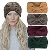 Chalier 4 Pack Winter Headbands for Women Knitted...