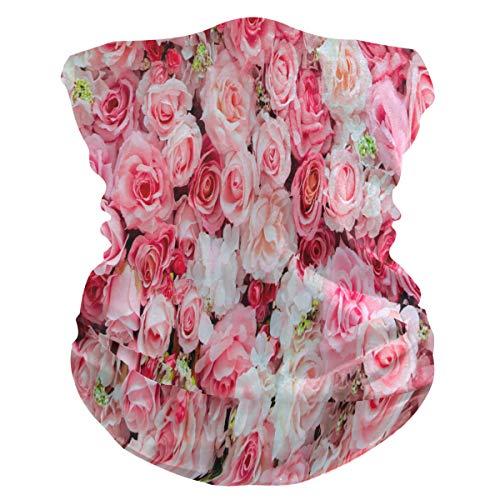 BIGJOKE Masque de protection UV avec fleur rose pour femme et homme