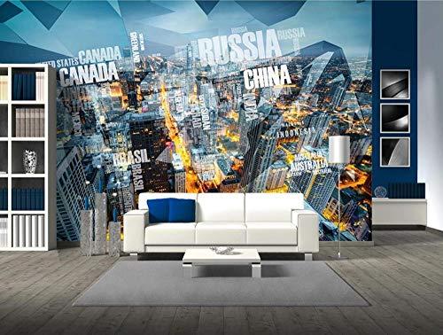 Tapete Custom 3d Foto Tapete Wandbild Schlafzimmer Wohnzimmer Kindergarten Schule Designer Zimmer Dekor-3D-Landschaft Der Modernen Stadt 400x280cm
