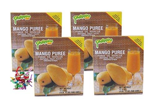 [ 4x 500g ] Philippine BRAND MangoPüree / Mango - Fruchtmark ungesüßt MANGO PUREE