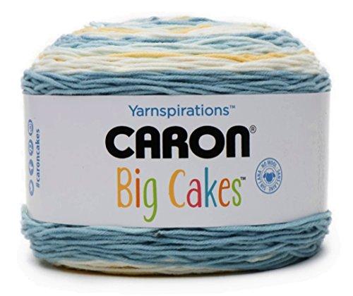 Caron Big Cakes Self Striping Yarn ~ 603 yd/551 m / 10.5oz/300 g Each (Jordan Almond)
