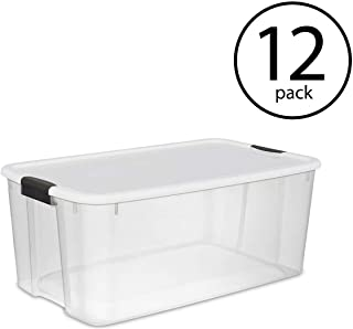 STERILITE 116-Quart Storage Box, 12-Pack