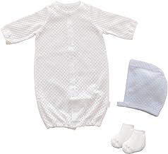 セットでお得 PUPO お出かけ3点セット 透かし編み2wayドレス/ボンネット/靴下 新生児 日本製