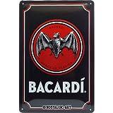 Nostalgic-Art Retro Blechschild - BACARDI - Logo Black,