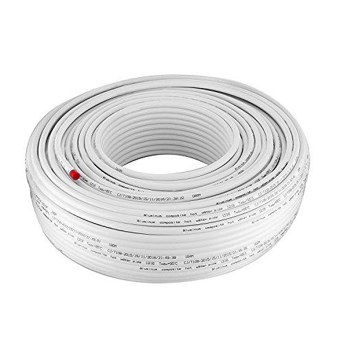 BanabaB 200M PEX AL PEX Verbundrohr 16 x 2mm Aluminium-Mehrschichtrohr Sauerstoff-Barriere Fußbodenheizung PEX Rohr Heißes und Kaltes Wasser PEX Rohr