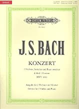 Bach, J.S. - Double Concerto in d minor BWV 1043 for Two Violins and Piano - by Oistrakh - Peters