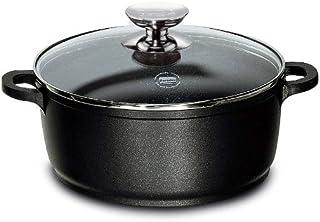 Berndes 031143 Vario Click Induction - Olla con Tapa de Cristal y Superficie Antiadherente para inducción (20 cm, 2,3 litros), Color Negro