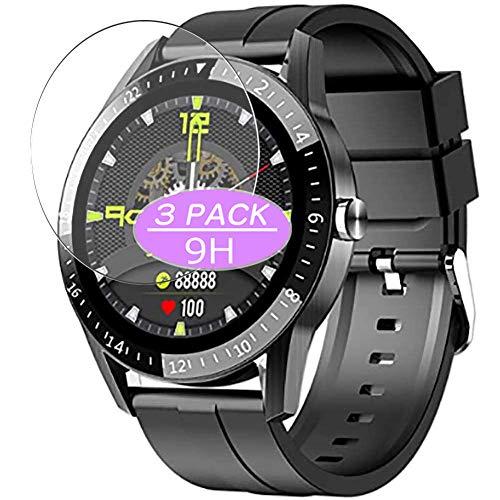 Vaxson 3 Stück 9H Panzerglasfolie kompatibel mit JINPXI LEMFO S1 smartwatch Smart Watch, Panzerglas Schutzfolie Displayschutzfolie Bildschirmschutz