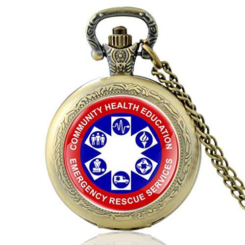 ZDANG Community Gesundheitserziehung Vintage Quarz TaschenuhrNotfall Rettung Männer Frauen Anhänger Stunden UhrEIN gutes Geschenk