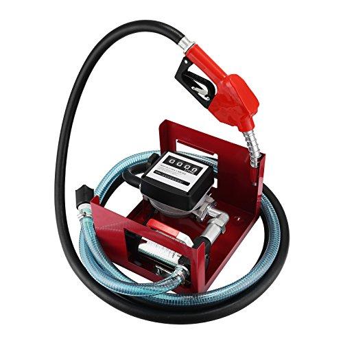 BuoQua 40L/min Pompa Gasolio Elettrica 220V Con Pistola Automatica Contatore 220V 600W Pompa Gasolio Elettrice Liquidi Diesel Pompa Gasolio Professionale