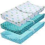 DaMohony - Juego de Cambiardor Almohadilla de Cuna Impermeable para Bebé Colchón Pañales Funda para Recién Nacidos Desmontable Lavable para Nido Cuna Viaje 32x16x4 inch