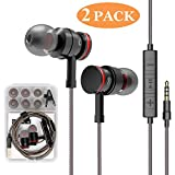 Best Earbuds With Volume Controls - Earbud 2 Pack Headphones with Microphone Stereo Earbuds Review