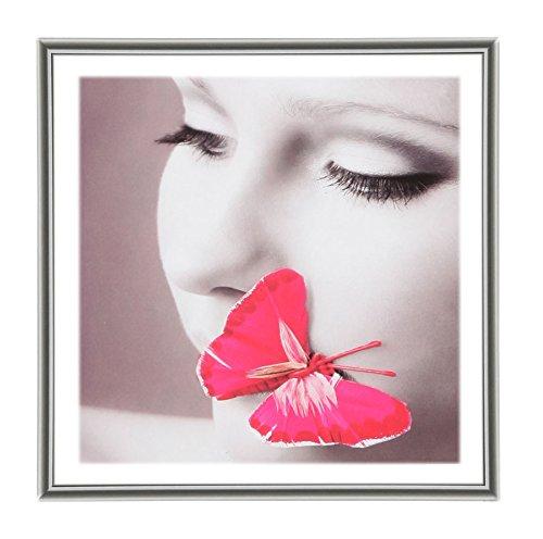 Photo Style Bilderrahmen 20x20 30x30 40x40 50x50 quadratisch Foto Rahmen: Farbe: Silber | Format: 50x50