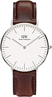 Daniel Wellington Classic Bristol Women's White Dial Leather Band Watch - 0611DW