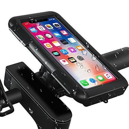 Soporte Movil Bicicleta, Soporte Motocicleta, Soporte de Smartphone Impermeable Universal con Pantalla Táctil y Face ID, Rotación 360° , para 4.7-6.8' Smartphones