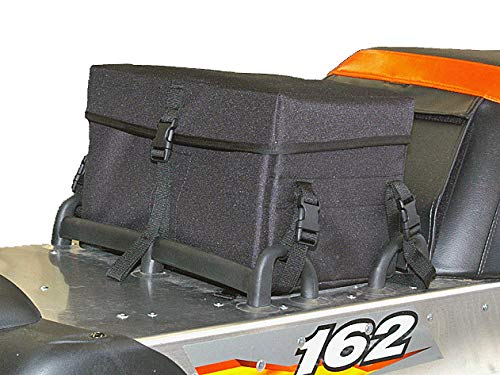 American Trails Bushwhacker Snowmobile Bag Tunnel Accessory Rack Pack Case Luggage Storage Motor Sled Trunk Snow Mobile Machine Snowmachine Waterproof Rear