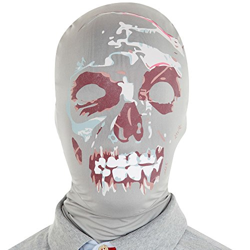 Morphsuits Morphmask Premium Zombie, Black/White/Red, One Size