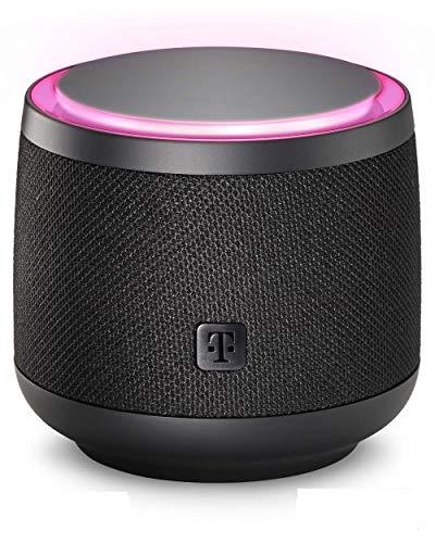 Smart Speaker der Telekom in schwarz | smarte Sprachsteuerung per WLAN über Lautsprecher zur Steuerung von MagentaTV & SmartHome | integrierter Spachdienst Alexa