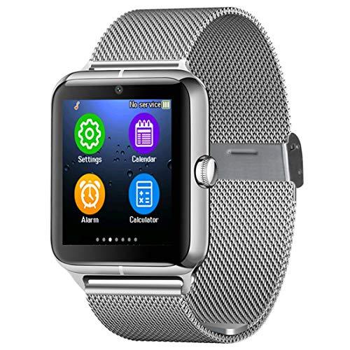 Para reloj inteligente Ssl inteligente reloj Z50 Teléfono, 1,54 pulgadas IPS pantalla táctil, soporte tarjeta SIM y la tarjeta del TF, Bluetooth, GSM, cámara de 0,3 MP, podómetro, alarma sedentario, S