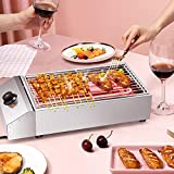 TELAM Electric Stainless Steel Smokeless Barbecue Grill with Removeable Stainless Steel Grate and Oil Tray, Adjustable Temperature, <span class='highlight'>for</span> Home and <span class='highlight'>Commercial</span> Use