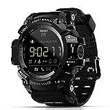 Smart Watch,Zwbfu MK16 Smart Watch Orologio militare IP67 / 5ATM Impermeabile EL Sport Luminoso BT Smart Watch Pedometro Attività Fitness Tracker Sveglia Telecamera remota per Android/iOS (Black)