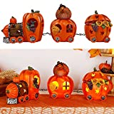 FORUP Thanksgiving Table Decorations, Thanksgiving Lighted Pumpkin Train Decorations, Thanksgiving Party Favors, Thanksgiving Table Centerpieces, Thanksgiving Indoor Home Tabletop Decorations