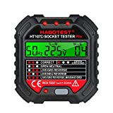 Honelife GFCI Outlet Tester with Voltage Display 90-250V Socket Tester Automatic Electric Circuit
