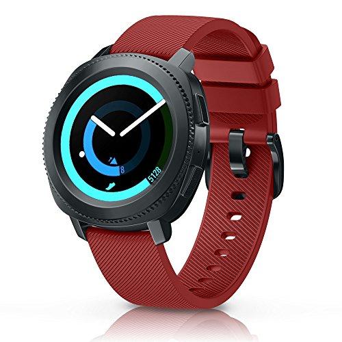 NotoCity Bande de Montre en Silicone de Remplacement équipement de Sport 20mm Bande de Silicone Compatible Gear Sport/Galaxy Watch 42mm/Ticwatch E/Ticwatch 2/Montre Vivoactive 3