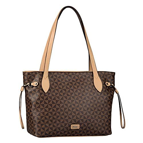 Gabor bags BARINA Damen Shopper L, Braun, gemischt , 41,5x13x29