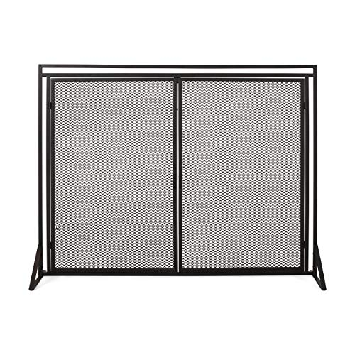 Great Features Of Christopher Knight Home Novia Iron Fireplace Screen, Matte Black