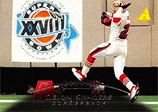 Deion Sanders football card (San Francisco 49ers) 1995 Pinnacle Super Bowl XXVII #31