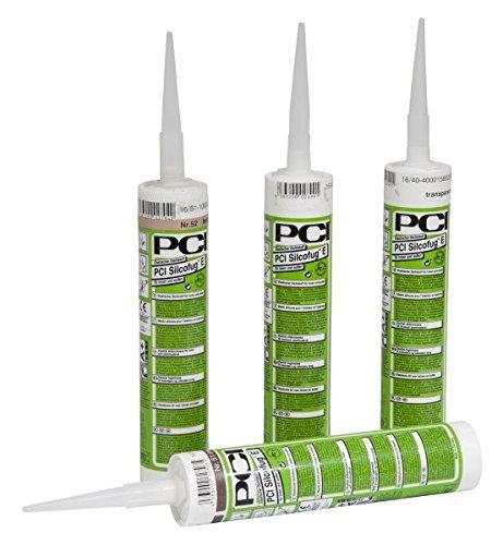 PCI Silcofug® E Elastischer Dichtstoff 12 x 310 ml - 23 Lichtgrau - Widerstandsfähig gegen Witterungseinflüsse und UV-Strahlen