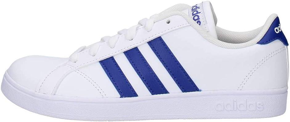 Canberra Afirmar Autocomplacencia  Adidas Tenis Baseline F36198 para Jóvenes, Color Blanco/Franjas Azules.:  Amazon.com.mx: Ropa, Zapatos y Accesorios