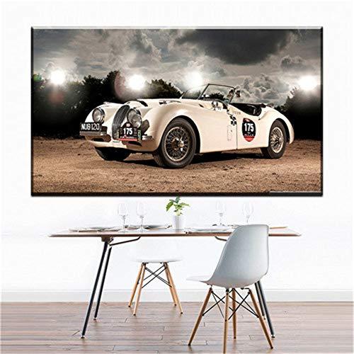 Wand leinwand malerei cool racing dekoration leinwand kunst auto leinwand bild ölgemälde kunst malerei wohnzimmer schlafzimmer dekoration (kein rahmen) A3 40x80 CM