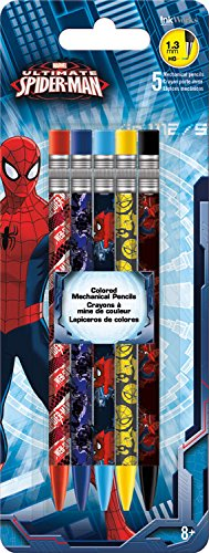 Trends International Ultimate Spider-Man Colored Mechanical Pencils (5 Pack)