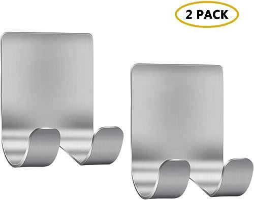 Razor Holder Shaver Hook Hanger Stand(2 Pack) Self Adhesive Stainless Steel Heavy Duty Utility Storage Hook,Shower Ho...