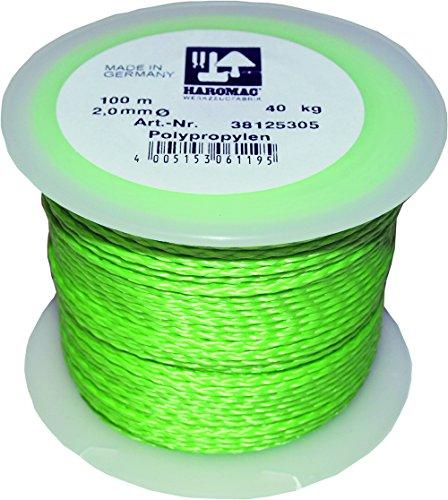 Haromac 38125305 Maurerschnur grün, 2mmx100m, PP, fluoriszierend