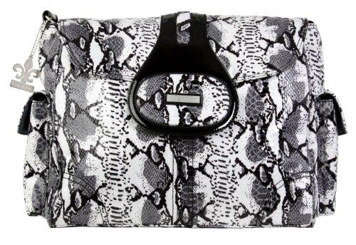 Kalencom Elite Wickeltasche, Schlangenoptik Python, Schwarz/Weiß