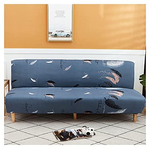 Funda De Sofá Sin Brazos Fundas para Sofa 2-3 Plazas Plegable Elástica Cubierta Funda para Cubre Sofá Cama Clic Clac Protector para Futón Couch Bench (Color : X, Size : S(110-140cm))