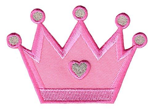 PatchMommy Prinzessin Krone Patch Aufnäher Applikation Bügelbild - zum Aufbügeln oder Aufnähen - für Kinder/Baby