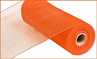 10 inch x 30 feet Deco Poly Mesh Ribbon - Value Mesh (Orange)