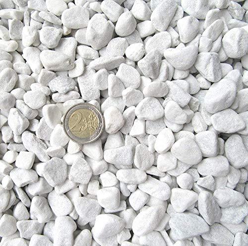 Doubleyou Geovlies & Baustoffe Gravier de marbre de Carrare Blanc Grain 18-25 mm 1-20 kg 2 kg