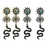 Holibanna Pendiente Cleopatra Retro Tótem Egipcio Colgar Pendientes de Oreja Vintage Sun Moon Ear Cuff Serpiente...