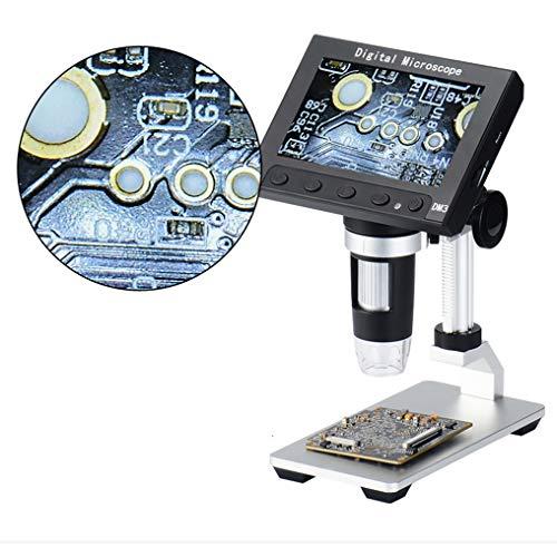 GJWHENS LCD-Digital USB-Mikroskop 4,3-Zoll-10X-1000X Vergrößerung Zoom, Tragetasche 8 LED einstellbar Licht, Kamera Video-Recorder für Android ios iPhone iPad