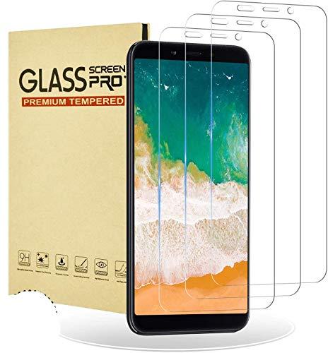 RIIMUHIR Protector de Pantalla Cristal Templado para Xiaomi Mi A2 [3 Pieces],9H Dureza,Resistente a Araaozos y Golpes,Sin Burbujas Fácil Instalación,Anti Dactilares