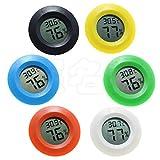 XNSZ 6 Packungen - Rundes elektronisches Thermometer und Hygrometer Thermometer