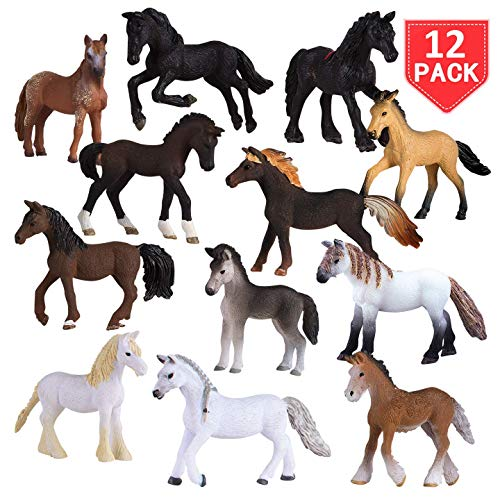 Liberty Imports Set of 12 Deluxe Horse Figurines for Kids - Realistic...