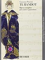 Partitions classique RICORDI PUCCINI G. - TURANDOT TESTO ITALIANO - CHANT ET PIANO Voix solo, piano