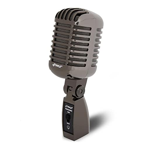 f29d68a0d3c96 Classic Retro Dynamic Vocal Microphone - Old Vintage Style Metal  Unidirectional Cardioid Mic with XLR Cable